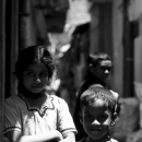 Girl With The Arms Crossed And Smiling Boy In The Alley @ Sri lanka