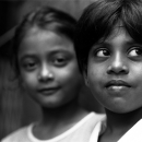 Two Girls With Big Round Eyes @ Sri lanka