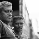Two Men Standing By A Truck @ Sri Lanka