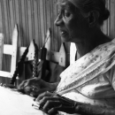 Older Woman Doing Lacework @ Sri lanka