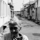 Old Lady In The Street Of Galle @ Sri Lanka