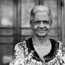 Older Woman With Droopy Eyes @ Sri Lanka