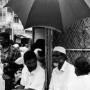 Bearded Man Under The Umbrella @ Sri Lanka