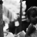 Baby Looks Back In The Dark Lane @ Sri Lanka