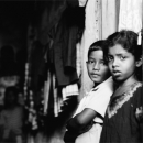 Boy And Girl Stand Together In The Dark Lane @ Sri lanka