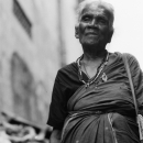 Older Woman Wearing Saree @ Sri Lanka