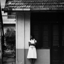 School Girl Waiting For A Bus @ Sri Lanka