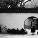 Circle And Woman In Yuyuan Garden @ China