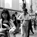 Woman Rides A Motorbike @ China