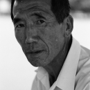 Suspisiouc Face Of A Man Wearing A White Shirt @ South korea