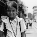 学校帰りの女の子