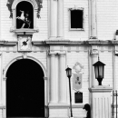 Figure In Front Of A Cathedral @ Philippines