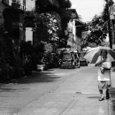 Older Woman With An Umbrella @ Philippines