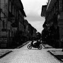 Motorbike Runs In The Old City @ Philippines