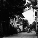 Tricycle At The End Of The Street @ Philippines