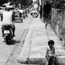 Girl Sat On The Street @ Philippines