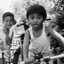 Boy Playing On The Bicycle @ Philippines