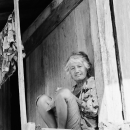 Woman Sitting Under The Eaves @ Philippines