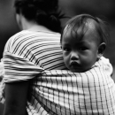 Baby On Mother's Back @ Philippines