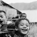 Smile Of Boys In The Mountain Path @ Philippines