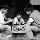 Boys Playing Chess @ Philippines