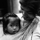 Girl Nestling On Mother @ Philippines