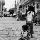 Girl Dragging Around @ Philippines