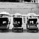 Trishaws In Straight Rows @ Malaysia
