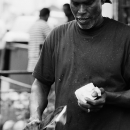 Man Cutting A Coconut @ Malaysia