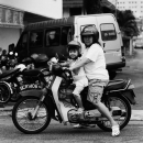 Mother And Her Daughter On The Motorbike @ Malaysia