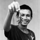Boy Showing A Lizard @ Malaysia