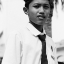 School Boy Wearing A Songkok