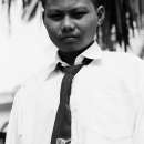 Boy Wearing An Uniform An Songkok