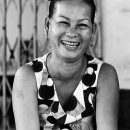 Laughing Face Of A Middle-aged Woman @ Vietnam