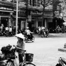 道端の自転車