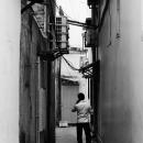 Man Standing In The Dim Lane @ Vietnam