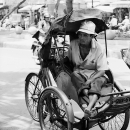 Keen-eyed Man On A Cyclo @ Vietnam