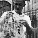 Man Carrying A Bird Cage