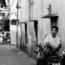 Man Sitting On The Motorbike @ Vietnam