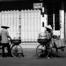 Two Bicycles And Tow Conical Hats @ Vietnam