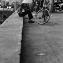 Conical Hat And Bicyce On The Riverside @ Vietnam