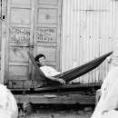 Man Relaxing On The Hammock @ Vietnam
