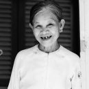 Amiable Grin Of An Older Woman @ Vietnam