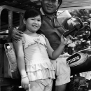 Identical Father And His Daughter @ Vietnam