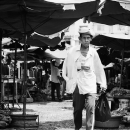 Man Passing Through The Market @ Vietnam