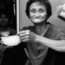 Wrinkled Smile Of An Older Woman @ Vietnam
