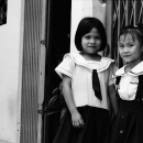 Two Uniformed Girls In The Lane @ Vietnam