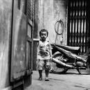 Boy Stands In The Alleyway @ Vietnam