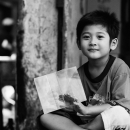 Boy Sits And Smiles @ Vietnam