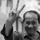 Man With Peace Sign @ Vietnam
